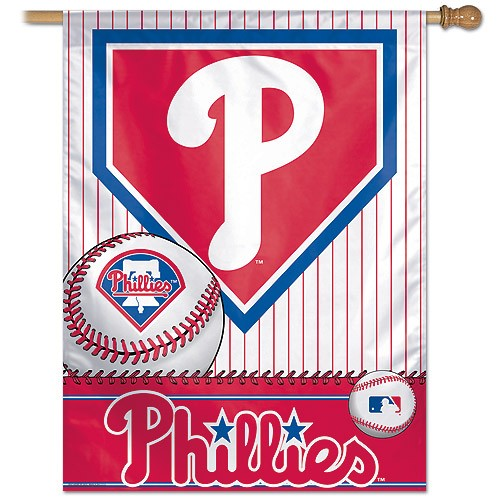 Philadelphia Phillies MLB Baseball Vertical Flag