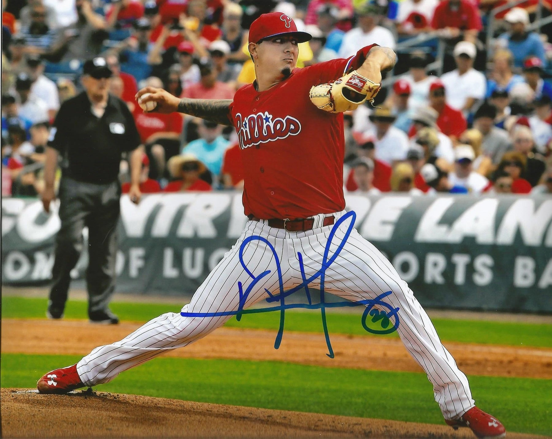 Philadelphia Phillies Vincent Velasquez Autographed Pitching MLB ...