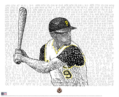 "Pittsburgh Pirates Bill Mazeroski Daniel Duffy Road to the 1960 World Series Word Art 16"" x 20"" Photo"