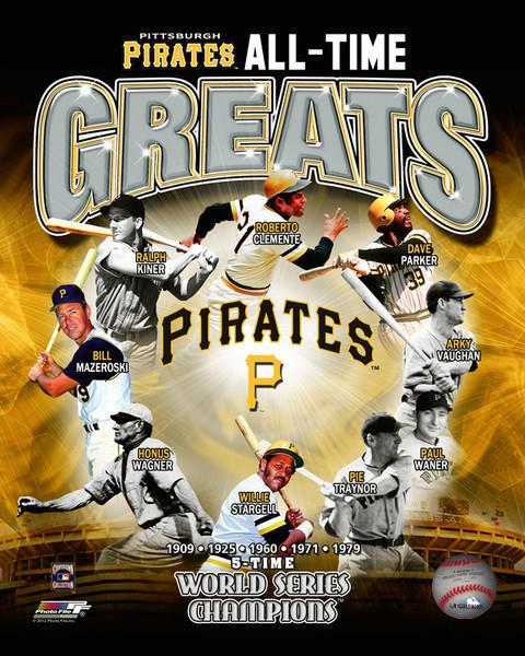 "Pittsburgh Pirates All-Time Greats MLB Baseball 8"" x 10"" Photo"