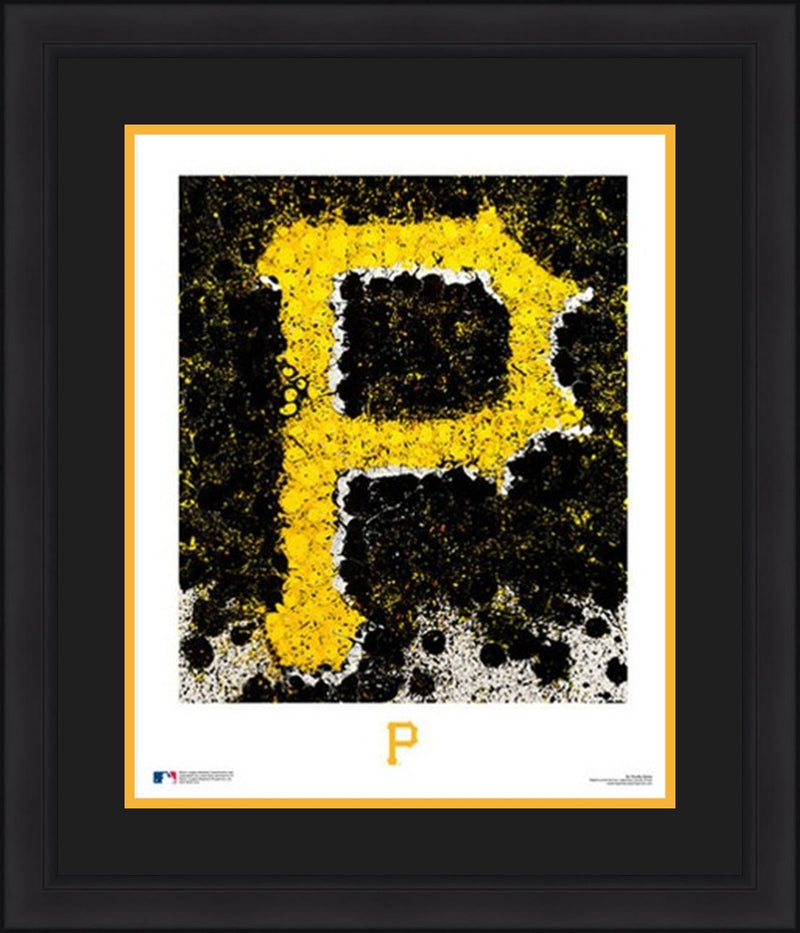 "Pittsburgh Pirates Timothy Raines Logo Art 16"" x 20"" Framed and Matted Photo - Dynasty Sports & Framing"