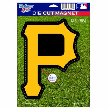 "Pittsburgh Pirates MLB Baseball 8"" Die-Cut Magnet - Dynasty Sports & Framing"