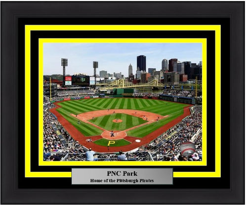 "Pittsburgh Pirates PNC Park MLB Baseball 8"" x 10"" Framed and Matted Stadium Photo - Dynasty Sports & Framing"