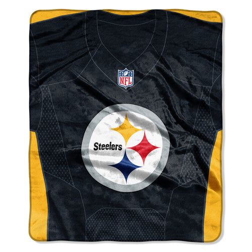 Pittsburgh Steeler Royal Plush Logo Team Spirit Jersey Blanket - Dynasty Sports & Framing
