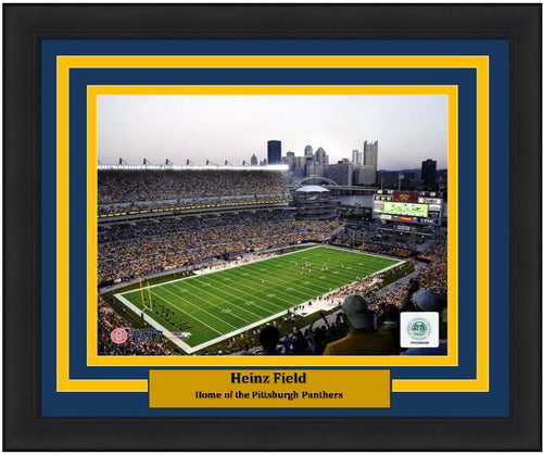 "Pittsburgh Panthers Heinz Field NCAA College Football Stadium 8"" x 10"" Framed and Matted Photo - Dynasty Sports & Framing"