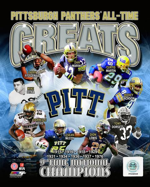 "Pittsburgh Panthers All-Time Greats NCAA College Football 8"" x 10"" Photo - Dynasty Sports & Framing"