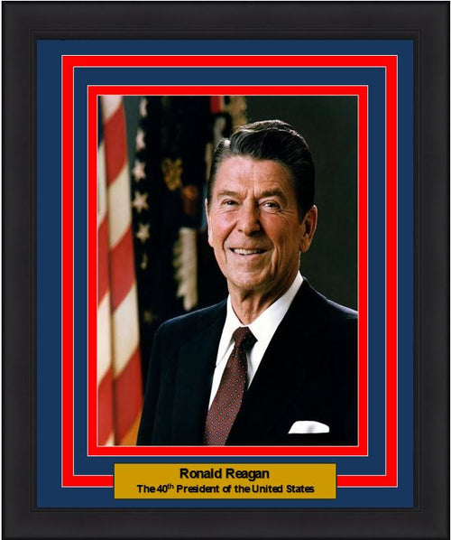"Ronald Reagan 40th President of the United States 8"" x 10"" Framed and Matted Photo"