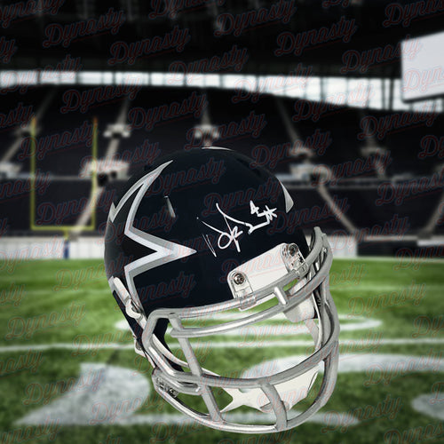 Dak Prescott Dallas Cowboys Autographed AMP Alternate Speed Mini Helmet - Dynasty Sports & Framing
