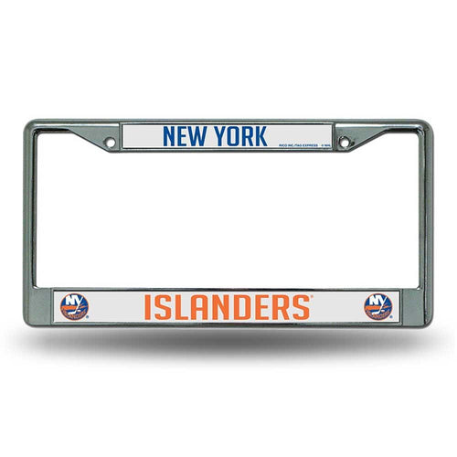 New York Islanders Chrome License Plate Frame - Dynasty Sports & Framing