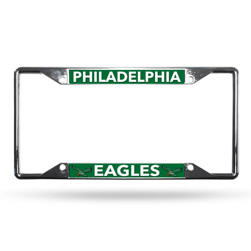 Philadelphia Eagles Throwback EZ View NFL Football Chrome License Plate Frame