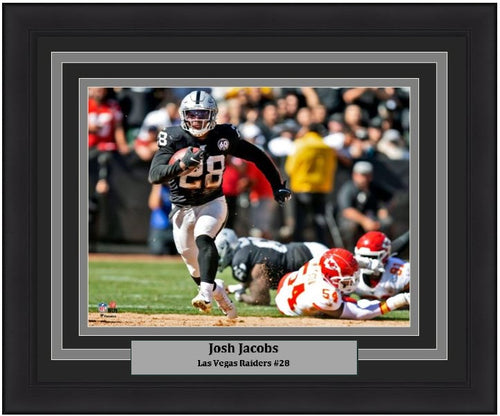"Josh Jacobs v. Chiefs Las Vegas Raiders 8"" x 10"" Framed Football Photo - Dynasty Sports & Framing"