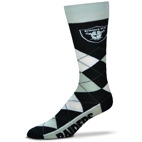 Oakland Raiders Men's NFL Football Argyle Lineup Socks