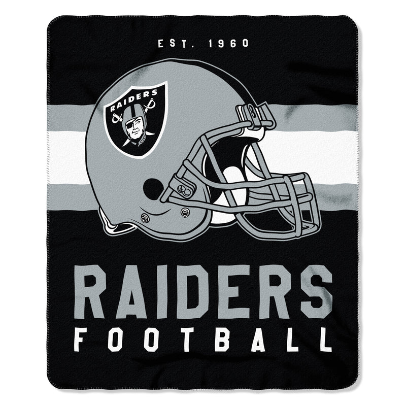 "Oakland Raiders NFL Football 50"" x 60"" Singular Fleece Blanket"