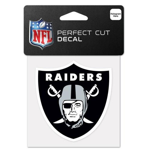 "Oakland Raiders NFL Football 4"" x 4"" Decal"