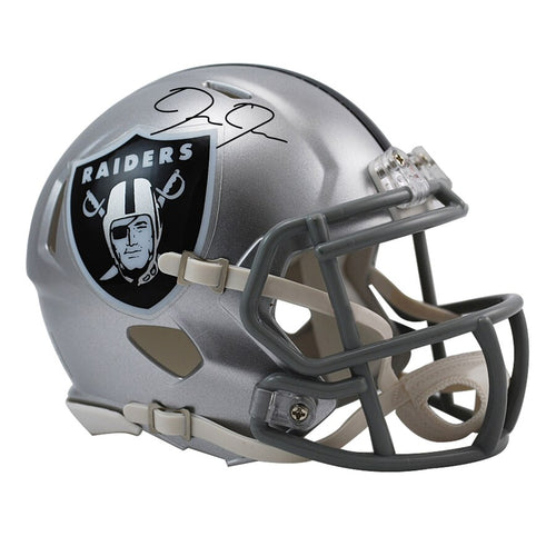 Josh Jacobs Oakland Raiders Autographed NFL Football Speed Mini-Helmet