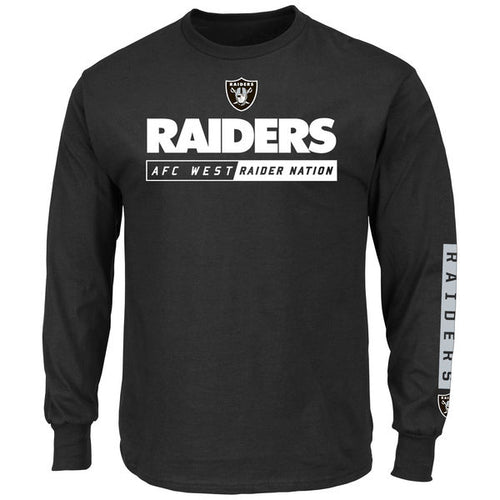 Las Vegas Raiders NFL Football Black Long-Sleeve T-Shirt - Dynasty Sports & Framing