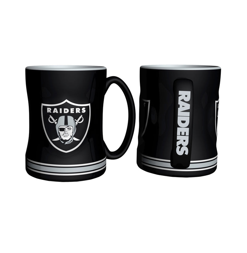 Oakland Raiders NFL Football Logo Relief 14 oz. Mug