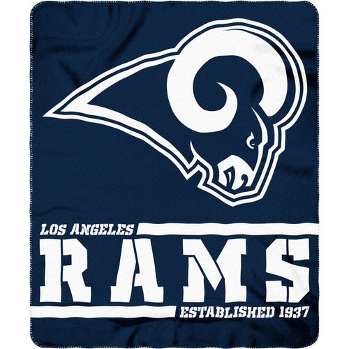 "Los Angeles Rams Football 50"" x 60"" Split Wide Fleece Blanket - Dynasty Sports & Framing"