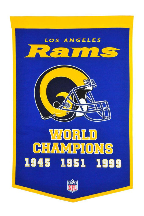 Los Angeles Rams NFL Super Bowl Dynasty Banner - Dynasty Sports & Framing
