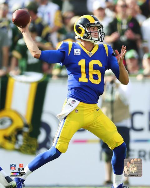 "Jared Goff in Action Los Angeles Rams NFL Football 8"" x 10"" Photo"