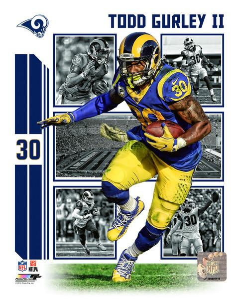 "Todd Gurley Player Collage Los Angeles Rams NFL Football 8"" x 10"" Photo"