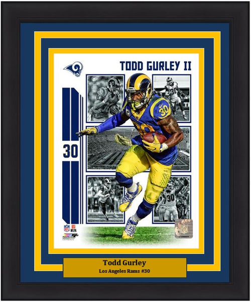 "Todd Gurley Player Collage Los Angeles Rams NFL Football 8"" x 10"" Framed and Matted Photo"
