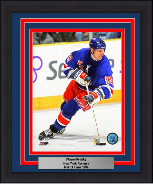 "Wayne Gretzky New York Rangers NHL Hockey 8"" x 10"" Framed and Matted Photo"