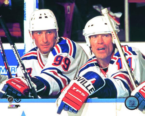 "New York Rangers Wayne Gretzky & Mark Messier NHL Hockey 8"" x 10"" Photo - Dynasty Sports & Framing"