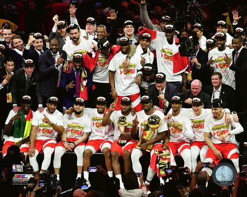 "Toronto Raptors 2019 NBA Champions On-Court Celebration NBA Basketball 8"" x 10"" Photo"
