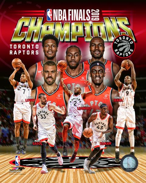 "Toronto Raptors 2019 NBA Champions Team Roster Collage NBA Basketball 8"" x 10"" Photo - Dynasty Sports & Framing"