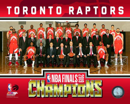"Toronto Raptors 2019 NBA Champions Team Roster Line-Up NBA Basketball 8"" x 10"" Photo - Dynasty Sports & Framing"