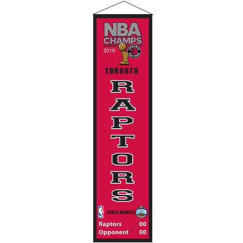 Toronto Raptors 2019 NBA Champions Basketball Heritage Banner - Dynasty Sports & Framing