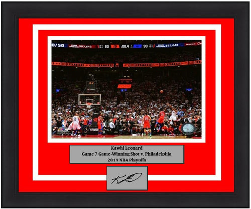 232cbba54a1 Kawhi Leonard Toronto Raptors Game 7 Game-Winning Shot v. 76ers NBA  Basketball 8