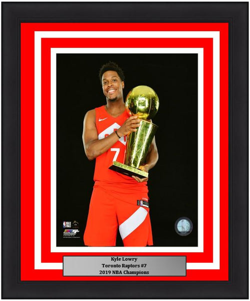 "Kyle Lowry Toronto Raptors 2019 NBA Champions Championship Trophy Basketball 8"" x 10"" Framed and Matted Photo"