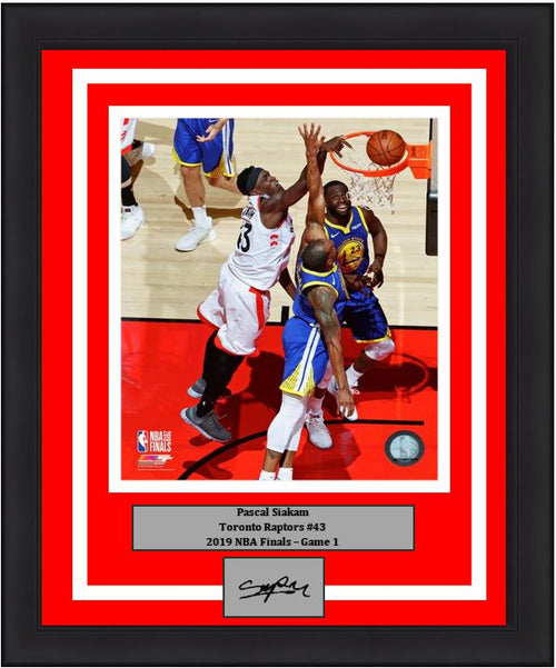 "Pascal Siakam Toronto Raptors 2019 NBA Finals Game 1 Basketball 8"" x 10"" Framed and Matted Photo with Engraved Autograph"