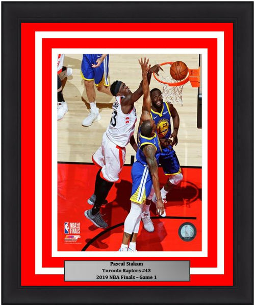 "Pascal Siakam Toronto Raptors 2019 NBA Finals Game 1 Basketball 8"" x 10"" Framed and Matted Photo"