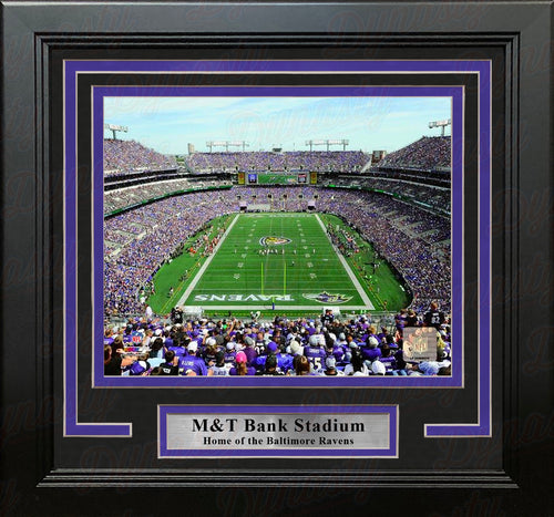 "Baltimore Ravens M&T Bank Stadium NFL Football 8"" x 10"" Framed and Matted Photo - Dynasty Sports & Framing"