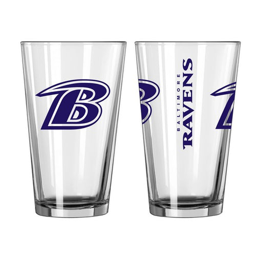 Baltimore Ravens NFL 2-Piece Pint Glass Gift Set - Dynasty Sports & Framing