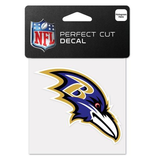 "Baltimore Ravens NFL Football 4"" x 4"" Decal - Dynasty Sports & Framing"
