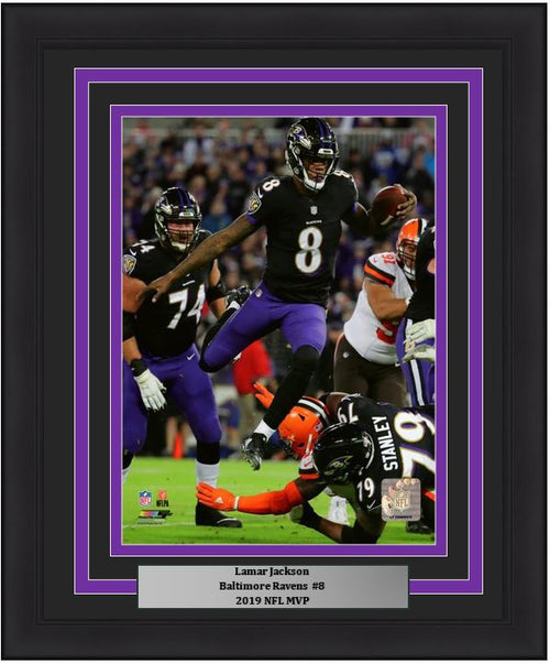 "Lamar Jackson Baltimore Ravens NFL Football 8"" x 10"" Framed and Matted Photo - Dynasty Sports & Framing"