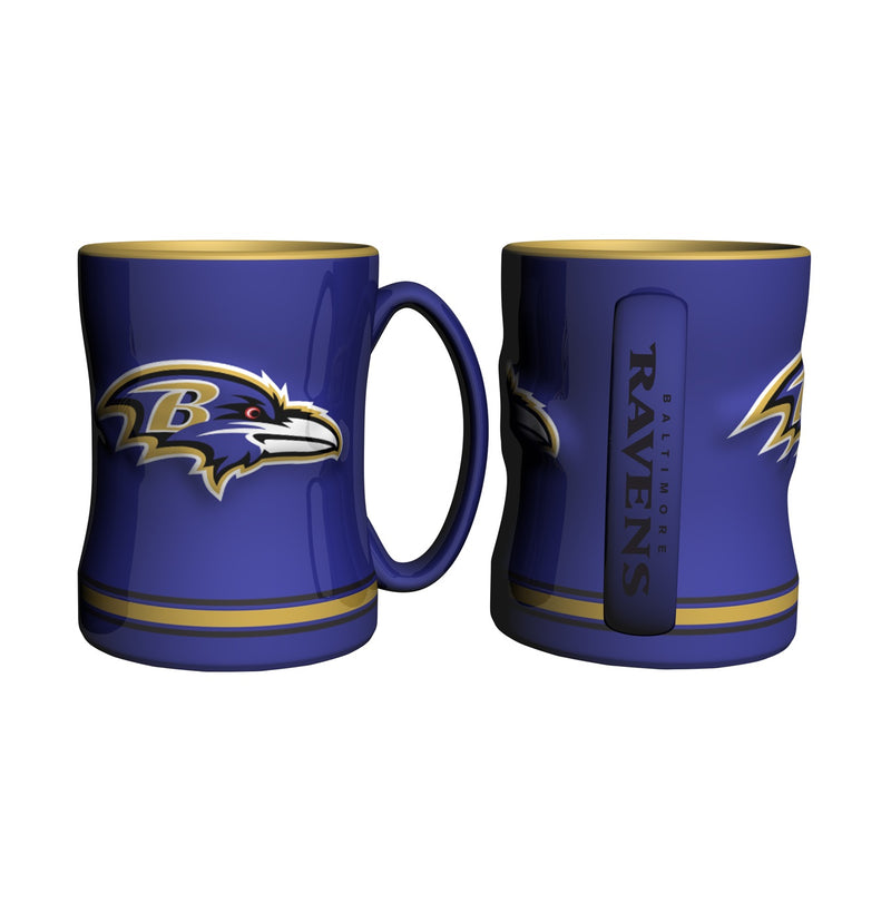 Baltimore Ravens NFL Football Logo Relief 14 oz. Mug