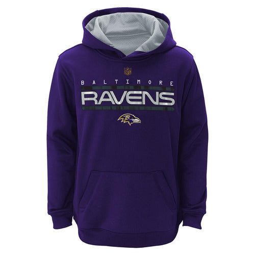 Baltimore Ravens NFL Football Reflect Tek Purple Youth Pullover Hooded Sweatshirt - Dynasty Sports & Framing