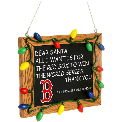 Boston Red Sox Chalkboard Sign Ornament - Dynasty Sports & Framing