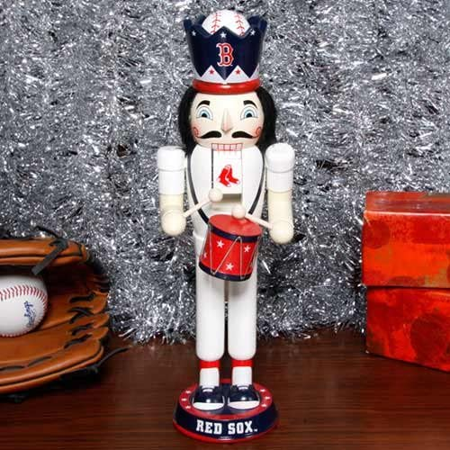Boston Red Sox Drum Nutcracker - Dynasty Sports & Framing