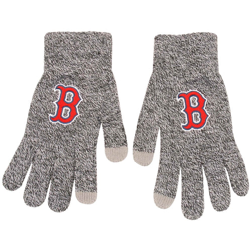 Boston Red Sox Gray Knit Texting Gloves - Dynasty Sports & Framing