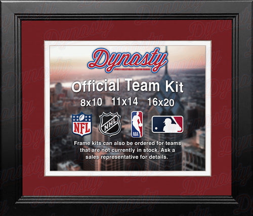 NHL Hockey Photo Picture Frame Kit - Montreal Canadiens (Red Matting, White Trim) - Dynasty Sports & Framing