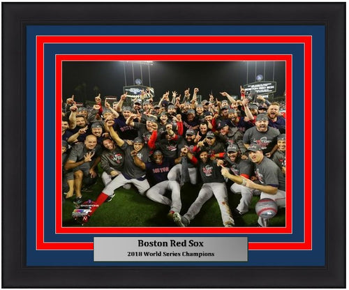 "Boston Red Sox 2018 World Series Champions Team Celebration MLB Baseball 8"" x 10"" Framed and Matted Photo"