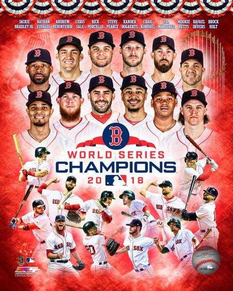 "Boston Red Sox 2018 World Series Champions Team Collage MLB Baseball 8"" x 10"" Photo"