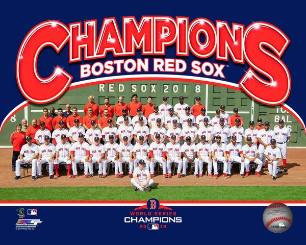 "Boston Red Sox 2018 World Series Champions Team Line-Up MLB Baseball 8"" x 10"" Photo"