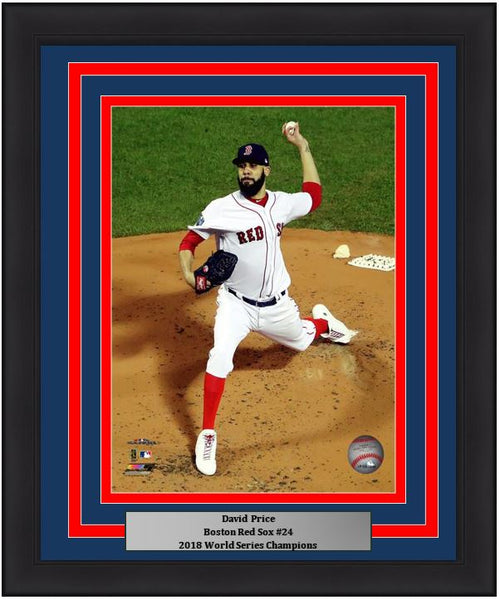 "David Price Boston Red Sox 2018 World Series MLB Baseball 8"" x 10"" Framed and Matted Photo - Dynasty Sports & Framing"